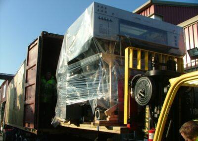 Bowley Printing Machinery logistics