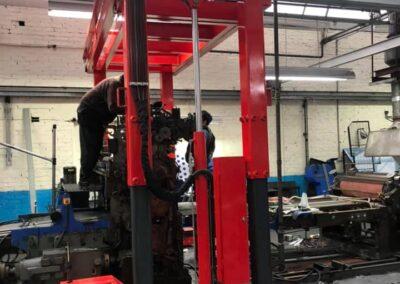 Printing press dismantling